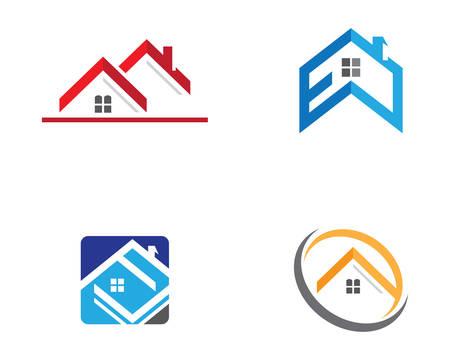 Property logo template vector icon illustration design Logó