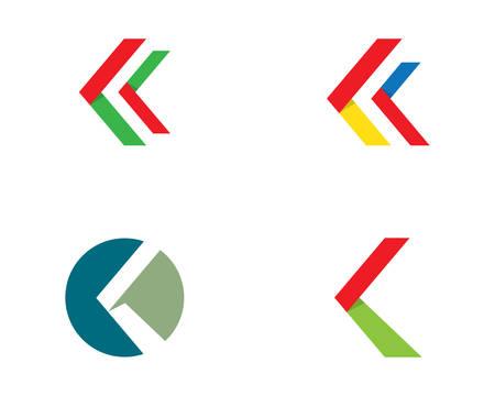 Arrow logo template vector icon illustration design Illustration