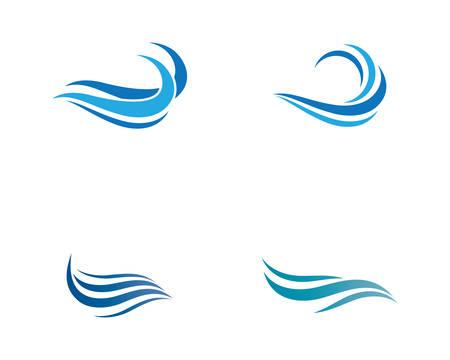 Water wave logo vector icon illustration design Banco de Imagens - 120324929