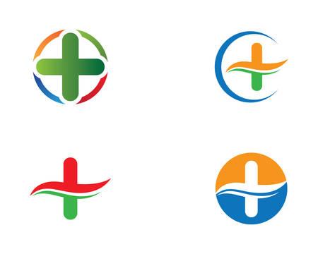 Medical logo template vector icon illustration design