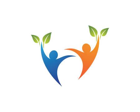 Healthy life logo template vector icon illustration design Ilustracja