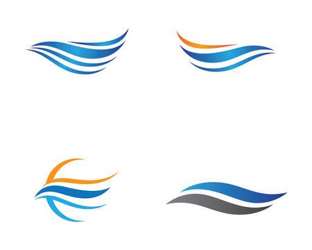 Water wave logo vector icon illustration design Banco de Imagens - 120478482