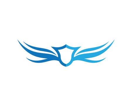 Diseño del ejemplo del icono del símbolo de la plantilla del logotipo del ala