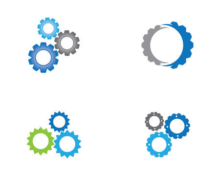 Gear Logo Template vector icon illustration design Stock Illustratie