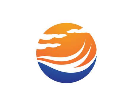 Water wave logo vector icon illustration design Logo