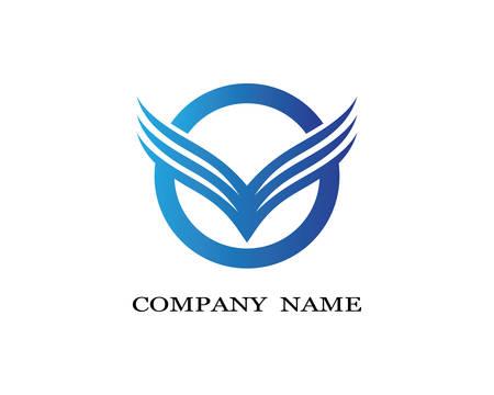 Wing logo template vector icon  illustration design Illustration