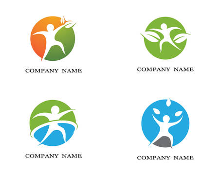 Healthy life logo template vector icon illustration design Illustration