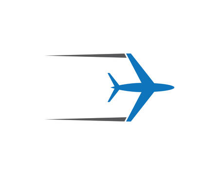 Airplane logo template vector icon illustration design Illustration
