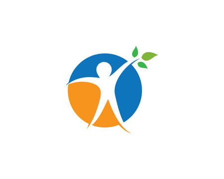 Healthy life logo template vector icon illustration design  イラスト・ベクター素材