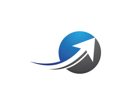 Arrow logo template vector icon illustration design Reklamní fotografie - 127902166