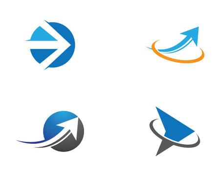 Arrow logo template vector icon illustration design Ilustrace