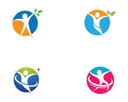 Healthy life template vector icon illustration design Banque d'images - 130386277