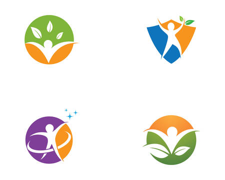 Healthy life template vector icon illustration design Banque d'images - 130386448