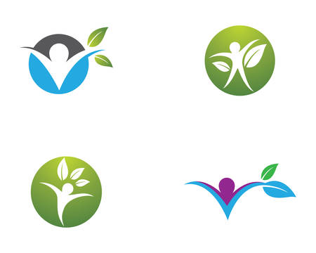 Healthy life template vector icon illustration design