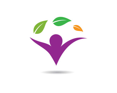 Healthy life template vector icon illustration design Banque d'images - 130386829
