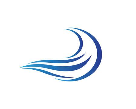 Water wave vector icon illustration design Ilustração