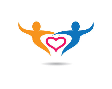Adoption and community care template vector icon illustration design