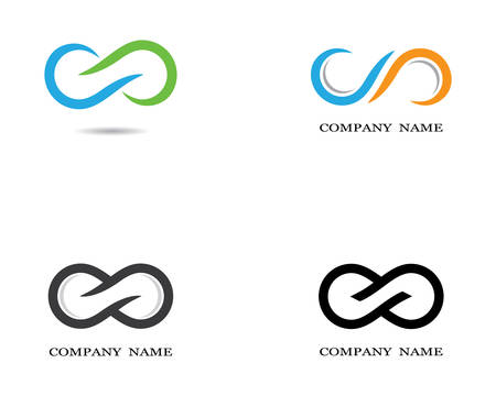 Infinity template vector icon illustration design
