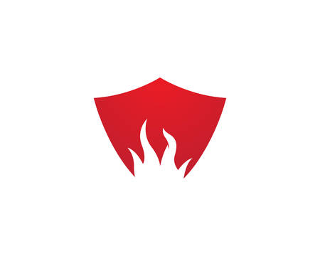 Fire flame template vector icon illustration design
