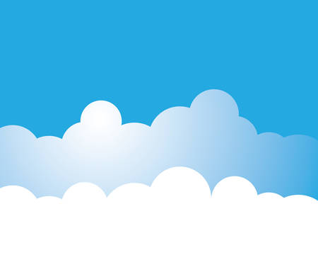 Blue sky with cloud background vector illustration design
