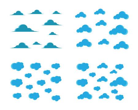 Blue sky with cloud background vector illustration design
