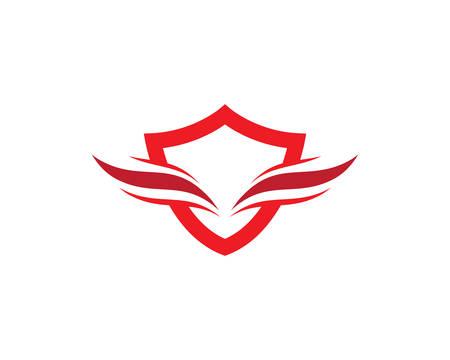 Shield logo template vector icon illustration design