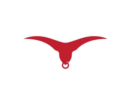 Bull logo template vector icon illustration design
