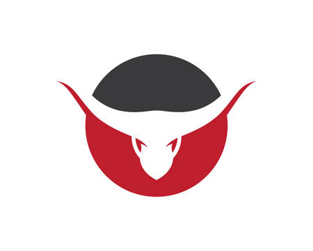 Bull logo template vector icon illustration design