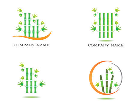 Bamboo vector icon symbol illustration design