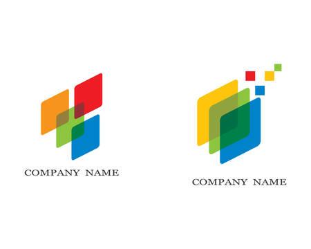 Business finance logo template vector icon illustration Ilustração