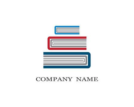Book logo template vector icon illustration design