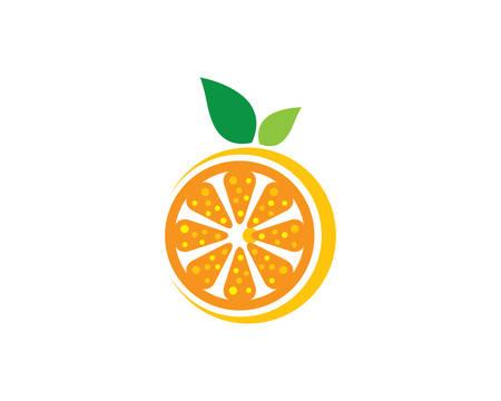 Orange logo template vector icon illustration design