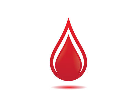 Blood logo template vector icon illustration design