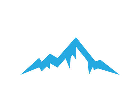 Mountain logo template vector icon illustration design