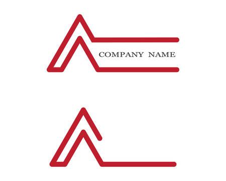 A letter logo vector icon illustration design
