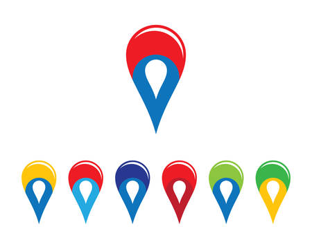 Location point symbol vector icon illustration