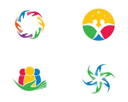 Adoption and community care template icon illustration design