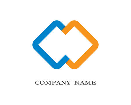 Corporate template icon illustration design