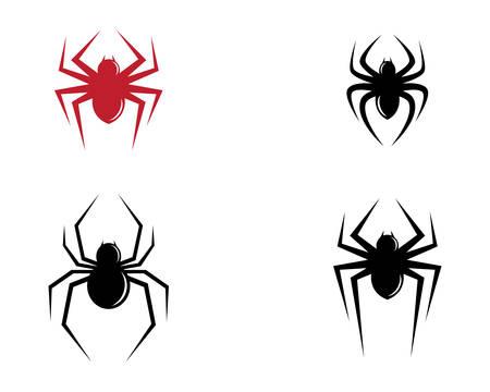 Spider icon illustration design Vettoriali