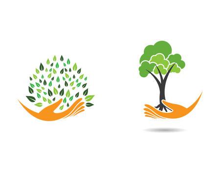 Tree template icon illustration design Ilustracja