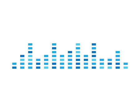 Sound wave template icon illustration