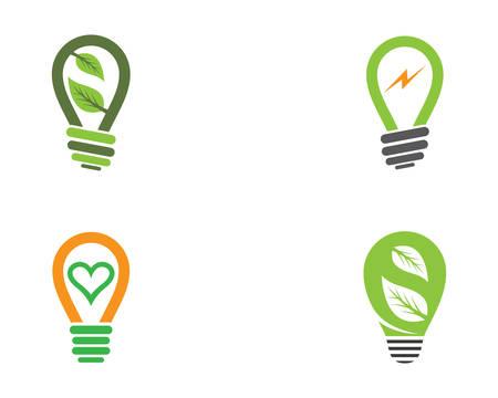 Light bulb template icon illustration design