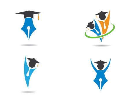 Education logo template vector icon illustration design