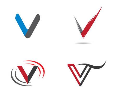 V letter logo vector icon illustration design Logó