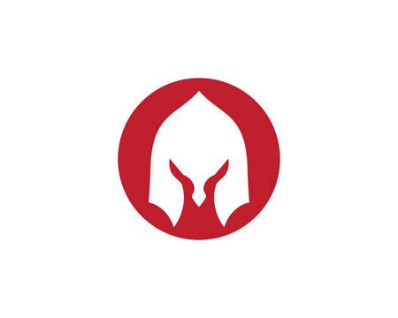 Spartan helmet logo template vector icon