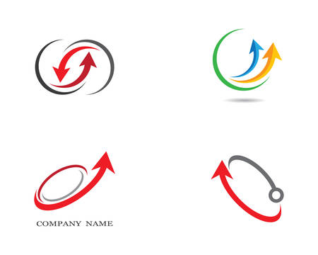 Arrow logo template vector icon illustration design 向量圖像