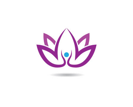 Beauty flowers logo template vector icon Illustration