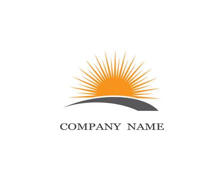 Sun logo template vector icon illustration design Logo