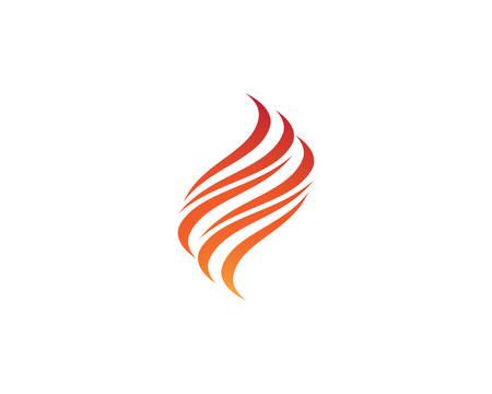 Fire flame logo template vector icon illustration design Banco de Imagens - 143065136
