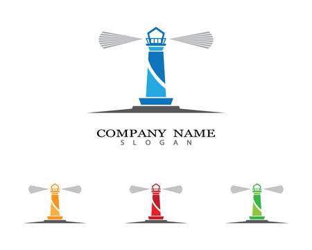 Lighthouse symbol vector icon illustration Vetores